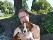 Felix van den Berg, 65, mit NanoukPensionär, St.Gallen