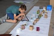 Das muss festgehalten werden: Die Kinder haben auf Grundstücken der Säntisstrasse Modellhäuser gebaut. (Bilder: Gianni Amstutz)