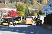 Verkehrsknotenpunkt St.Peterzell: Durch Umgestaltung der Kreuzung soll die Situation verbessert werden (Bild: Urs M. Hemm)