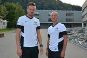 Auf das Wattwiler Trainergespann Jan Rüeger (links) und Patric Porchet wartet in den kommenden Monaten viel Arbeit (Bild: Beat Lanzendorfer)