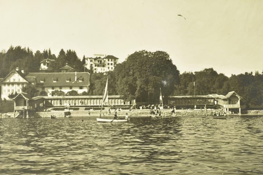 Strandbad Weggis, undatiertes Bild. (Bild: Verein Historisches Archiv Weggis)