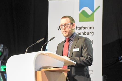 Christian Hildebrand, Präsident OK Wirtschaftsforum Toggenburg. (Bild: Urs M. Hemm)