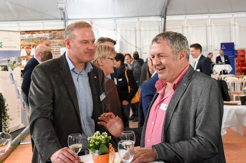 Christian Vetsch, OK WFT, und Christoph Thurnherr, BWZ Toggenburg. (Bild: Urs M. Hemm)