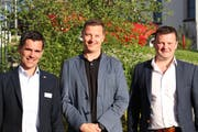 Drei der sechs Organisatoren waren an der Hauptversammlung des Gewerbevereins zugegen: René Bruderer, Christian Hilber und Stefano Pierini. (Bild: Dinah Hauser)