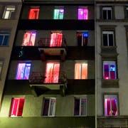 Luzerner Sexbetriebe sollen künftig eine Bewilligung benötigen. Hier im Bild ein Etablissement in Zürich. (Keystone/Alessandro Della Bella)