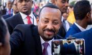 Der Silberstreif am äthiopischen Horizont: Abiy Ahmed ist seit diesem Frühling Regierungschef der afrikanischen Bundesrepublik. (Bild: Kay Nietfeld/Keystone/dpa (Berlin, 30. Oktober 2018))