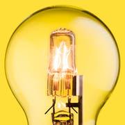 Eine Halogen-Glühbirne. (Bild: Getty)