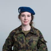 Rekrutin und Journalistin Chiara Zgraggen ist anfangs Januar in Airolo eingerückt. (Bild: Dominik Wunderli, 19. Januar 2019)