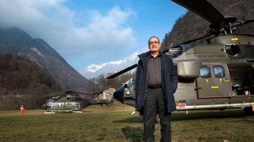 Verteidigungsminister Guy Parmelin verbrachte 82 Stunden über den Wolken. (KEYSTONE/Ti-Press/Gabriele Putzu)