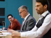 Severin Gutjahr-Preisig, Christoph Kohler und Samuel Oberholzer. (Bild: Manuel Nagel)