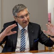 Gesundheitsdirektor Guido Graf: «Es ist für uns wichtig, dass wir am Schluss nicht 26 verschiedene Lösungen haben, sondern eine einheitliche bundesweite Liste». (Bild: Roger Grütter, Luzern, 18. September 2015)
