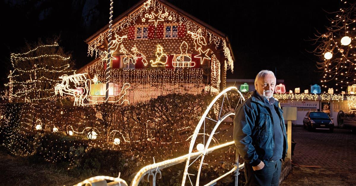 Außergewöhnliche Weihnachtsbeleuchtung.Stansstader Löst Mit Seiner Weihnachtsbeleuchtung Jedes Jahr Einen