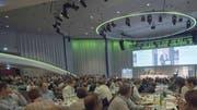 Blick in den Berner Kursaal (hier bei einer Veranstaltung des Bauernverbandes). (Bild: KEY)