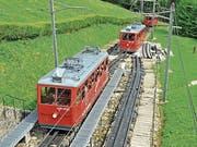 Die Pilatus-Bahnen im Bereich Ämsigen. (Archivbild: Robert Hess)