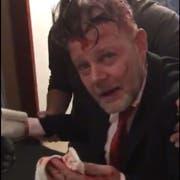Patrick Altendorfer in einem Video gleich nach der Messerattacke. (Bild: PD)