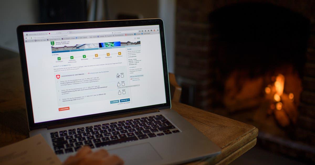 Bei den Wahlen im Herbst kann man kaum per Computer wählen | St.Galler Tagblatt