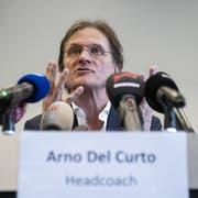 Arno Del Curto bei seiner Präsentation in Zürich. (Bild: Ennio Leanza/KEY)