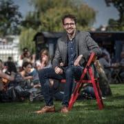 Hier trifft man David Roth an: Bei der Voliere auf dem Luzerner Inseli. (Bild: Pius Amrein, Luzern, 16. September 2019)