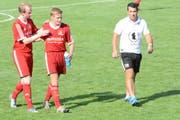 Trotz eindringlicher Warnung von Trainer Ruedi Eisenhut kassierte Bütschwil in Niederstetten eine ärgerliche Niederlage. (Bild: Beat Lanzendorfer)