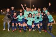 Die dritte Cupfinalteilnahme von Bütschwil-Neckertal ist Tatsache. 2015 und 2016 konnten die Frauen das Endspiel auch für sich entscheiden. (Bild: Beat Lanzendorfer)