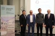 Vitalik Buterin (3. von links) mit Vertretern der Universität Basel. (Bild: PD)