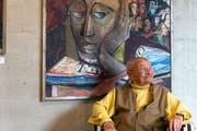 Er wird das Weltgeschehen weiterhin beobachten: Maler und Gestalter Willy Rupf aus Speicher. (Bild: Claudio Weder)