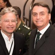 Ernst Wyrsch mit dem brasilianischen Präsidenten Jair Bolsonaro am WEF 2019. (Bild: Andreas Möckli)