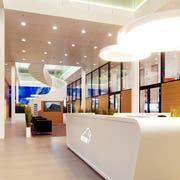 Der Eingangsbereich von Bison IT Services in Sursee. (Bild: PD)
