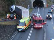 Die Unfallstelle südlich von Sisikon. Bild: Kantonspolizei Uri