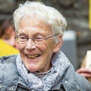Anni Lanz vor der Verhandlung am Donnerstag in Brig. (Bild: Keystone)