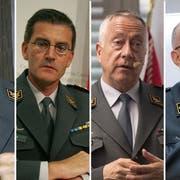 Keckeis, Nef, Blattmann, Rebord - die Schweizer Armee hatte vier Chefs in den letzten 15 Jahren. (Bild: KEY)
