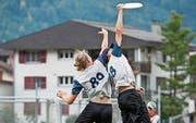 Frisbee-Action am Sonntag auf der Sportanlage Eichli. (Bild: PD)