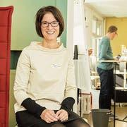 Geschäftsführerin Regine Siegenthaler im Coworking Frauenfeld an der Bahnhofstrasse 56. (Bild: Thi My Lien Nguyen)