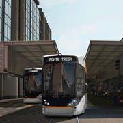 Visualisierungen der Tram-Trains von Stadler für die Ferrovie Luganesi. (Bilder: PD)
