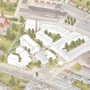 Auf dem ehemaligen Feldmühle-Areal soll ein neuer Stadtkern entstehen. (Bild: PD)