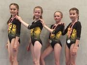 Die erfolgreichen K3-Turnerinnen; von links: Sara Droese, Valeria Gamma, Livia Arnold und Silja Arnold. (Bild: PD)