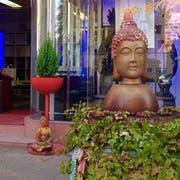 Die Statue stand jahrelang vor dem Laden von Hans Erni. (Bild: PD)