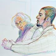 Brian, auch bekannt als Carlos, bei einer Verhandlung im Jahr 2015. Links neben ihm sein damaliger Verteidiger. (Bild: Keystone)