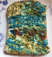 Claude Monets Seerosenteich à la #KunstGeschichteAlsBrotbelag. (Bild: twitter/maria kruse)