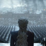 "This image released by HBO shows Emilia Clarke in a scene from ""Game of Thrones,"" that aired Sunday, May 5, 2019. In the third to last episode of HBO's ""Game of Thrones,"" Mother of Dragons Daenerys Targaryen is suffering from a crisis of confidence. She is short on troops and dragons, short on strategies and short on friends. And her claim to the Iron Throne has weakened upon learning that Jon Snow, in fact, shares her royal Targaryen blood. (Helen Sloan/HBO via AP)"