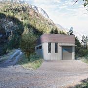 So könnte dereinst die Zentrale des Kraftwerks Palanggenbach in Seedorf aussehen. (Visualisierung: EWA)