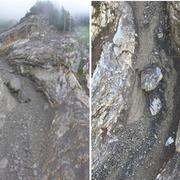 Müssen gesprengt werden: Rund 1000 Tonnen Felsmaterial oberhalb der Axenstrasse. (Bild: Astra)