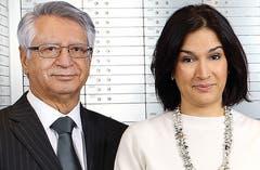 Yousef Sherkati, iranisch-schweizerischer Geschäftsmann und seine Tochter, Elnas Sherkati Cott, stv. Verwaltungsratspräsidentin Treuhandbüro. (Bild: PD)