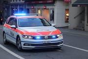 Die Zuger Polizei musste am Donnerstag wegen eines Unfalls in beim Theater Casino ausrücken. (Bild: PD)