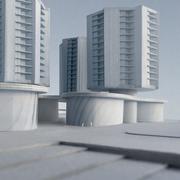 So könnten die Hochhäuser dereinst aussehen. (Visualisierung: Architekturbüro Iwan Bühler)