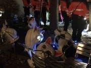 Die Polizei kontrolliert fünf Personen. (Bild: Leserreporter)