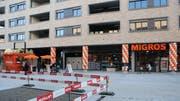 Die neue Migros Lachen im Neubau Ulmenstrasse 11. Die Filiale ist die älteste noch existierende der Migros Ostschweiz. (Reto Voneschen - 28. Februar 2019)