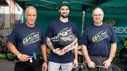 «Baumi-Racing» aus dem Bernbiet mit Hanspeter Lüscher sowie Marcel und Vater Urs Baumgartner. (Bilder: Andreas Taverner)