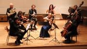 Das Ensemble Fiacorda spielt im Kirchgemeindehaus im Rahmen der «Amriswiler Konzerte». (Bild: Barbara Hettich)