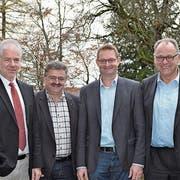 Stephan Scheidegger, Stefan Britschgi, Peter Nüesch sowie Ueli Strauss (von links). (Bild: Adi Lippuner)